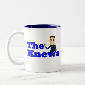 """ButterCup"" Knews coffee mug! Two-Tone Coffee Mug"