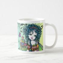 fairy, faerie, fae, gothic, fantasy, myka, jelina, rainbow, crystal, art, Mug with custom graphic design