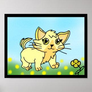 """Buttercup The Cat (11"""" x 8.5"""", Matte) Poster"""