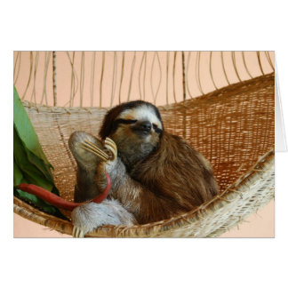 Buttercup the Sloth Card
