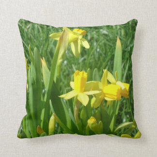 Buttercup Yellow Daffodils Throw Pillow
