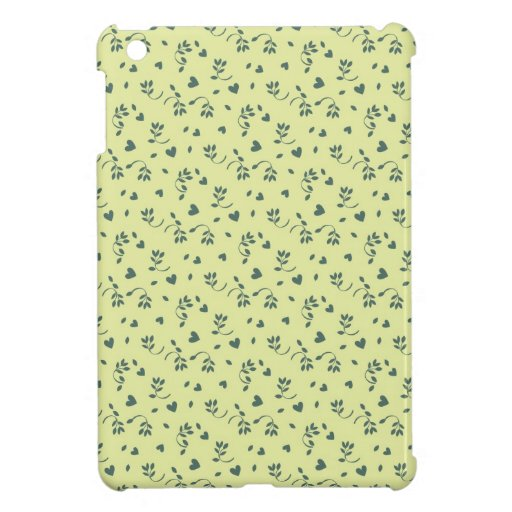 Buttercup yellow floral flower buds and hearts iPad mini cover