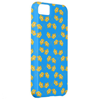 buttercup yellow flowers on sky blue iphone 5 case