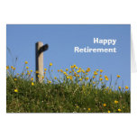 Buttercups and footpath sign retirement card