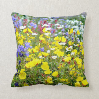 Buttercups and other Wildflowers Throw Pillow