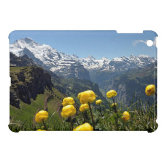 Buttercups and the Jungfrau range iPad Mini Cover