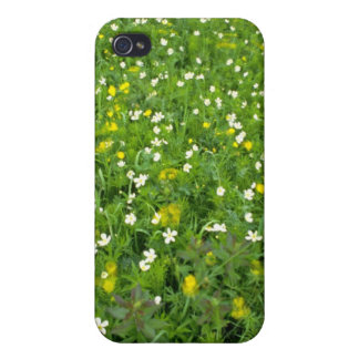 Buttercups and thimbleweed White flowers iPhone 4 Cover