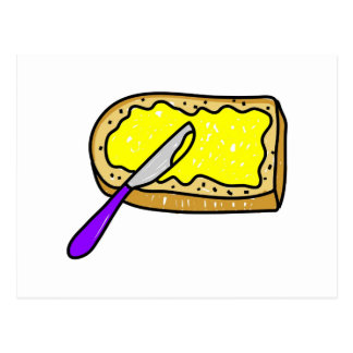 buttered-bread post cards