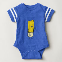 Buttered Buttery Stick of Butter Happy Thumbs Up Baby Bodysuit