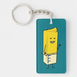 Buttered Buttery Stick of Butter Happy Thumbs Up Keychain