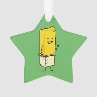 Buttered Buttery Stick of Butter Happy Thumbs Up Ornament