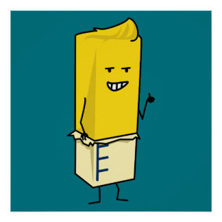 Buttered Buttery Stick of Butter Happy Thumbs Up Poster