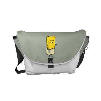 Buttered Buttery Stick of Butter Happy Thumbs Up Small Messenger Bag
