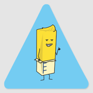 Buttered Buttery Stick of Butter Happy Thumbs Up Triangle Sticker