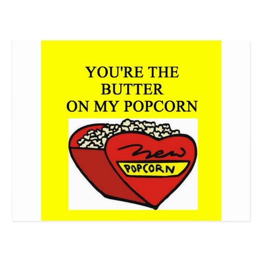 buttered popcorn lover postcard