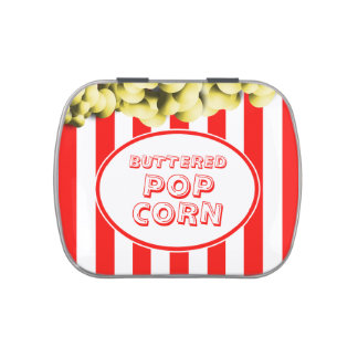 Buttered Popcorn Movie Theme Candy Tin