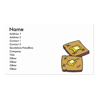 buttered toast business card template