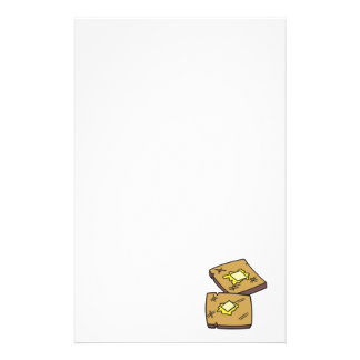 buttered toast custom stationery