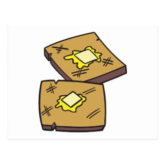 buttered toast postcard