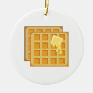 Buttered Waffles Ceramic Ornament