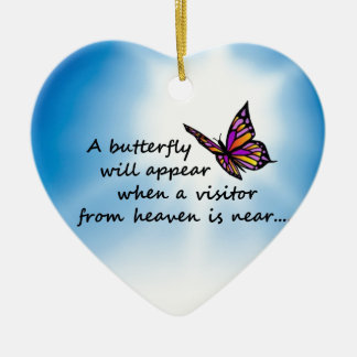 Butterefly, Visitor from Heaven Ceramic Ornament