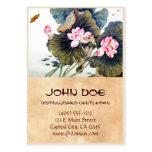 Butterf hermoso chino oriental fresco de la hoja d tarjeta personal