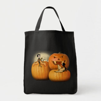 Butterfairies and Pumpkins Tote Bags