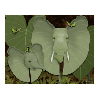 """Butterfairies & Elephant Ears"" Poster"
