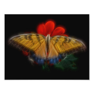 Butterfaly Fractal Tiger Swallowtail Card