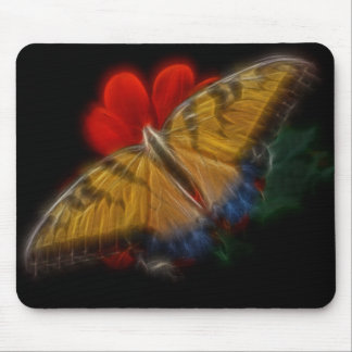 Butterfaly Fractal Tiger Swallowtail Mouse Pad
