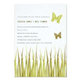 Butterfies in Grass Invitation