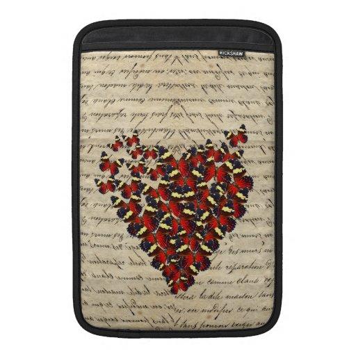Butterfies románticos del vintage funda macbook air