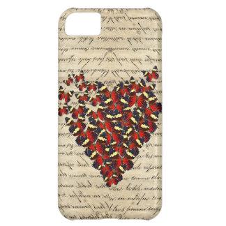 Butterfies románticos del vintage funda para iPhone 5C