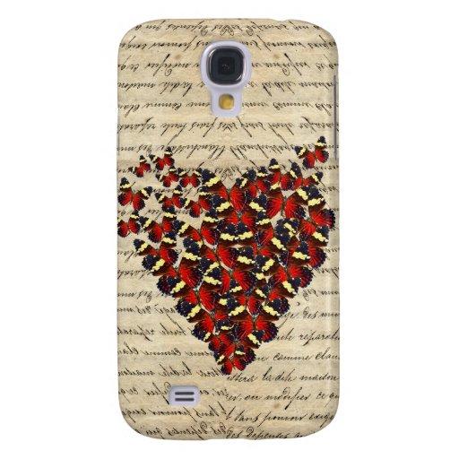 Butterfies románticos del vintage funda samsung s4