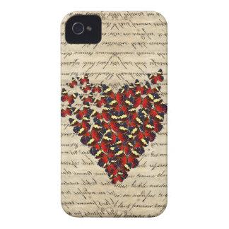 Butterfies románticos del vintage iPhone 4 funda