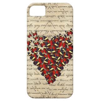 Butterfies románticos del vintage iPhone 5 funda