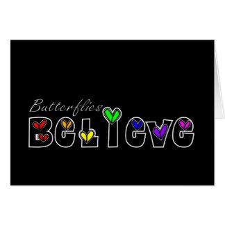 Butterfiles Believe (Black) Card