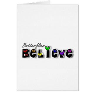 Butterfiles Believe Card
