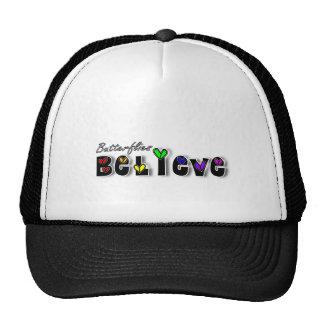 Butterfiles Believe Trucker Hat