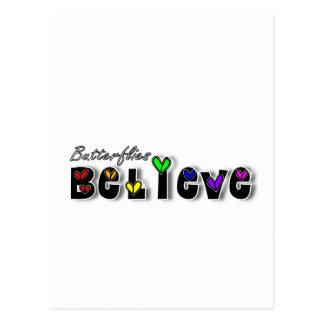 Butterfiles Believe Postcard