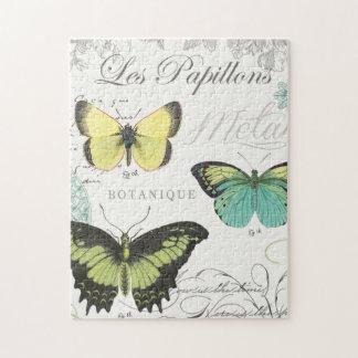butterfiles botánicos del vintage moderno