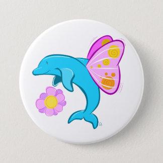 Butterfin Badge Pinback Button