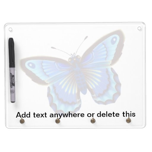 Butterfiy azul seca al tablero del borrado pizarras blancas de calidad