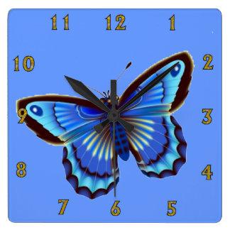 Butterfiy blue Wall Clock