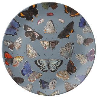 Butterflies, 1842 dinner plate