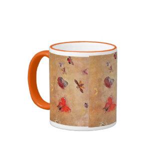 Butterflies 1913 Odilon Redon Spring Blossoms Ringer Coffee Mug