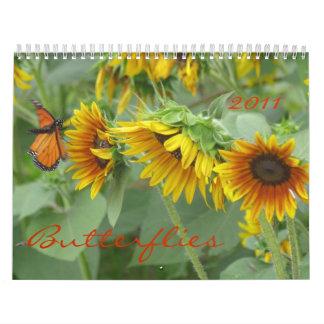 Butterflies, 2011 calendar