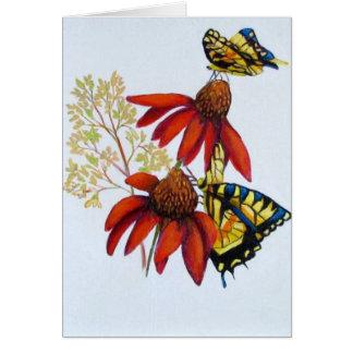 butterflies #2 greeting card