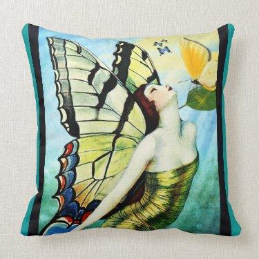 Butterflies 2 throw pillows