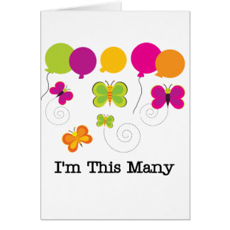 Butterflies 5th Birthday T-shirts and gifts Card